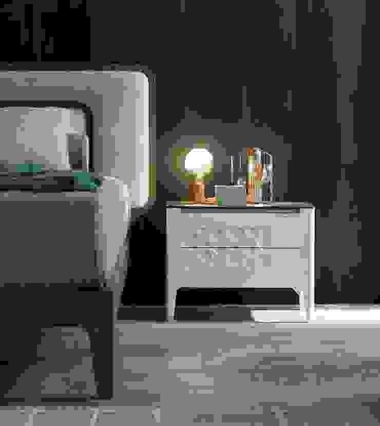 Moon Modo10 Camera da letto moderna di Arredi Grasso srl Moderno Legno massello Variopinto