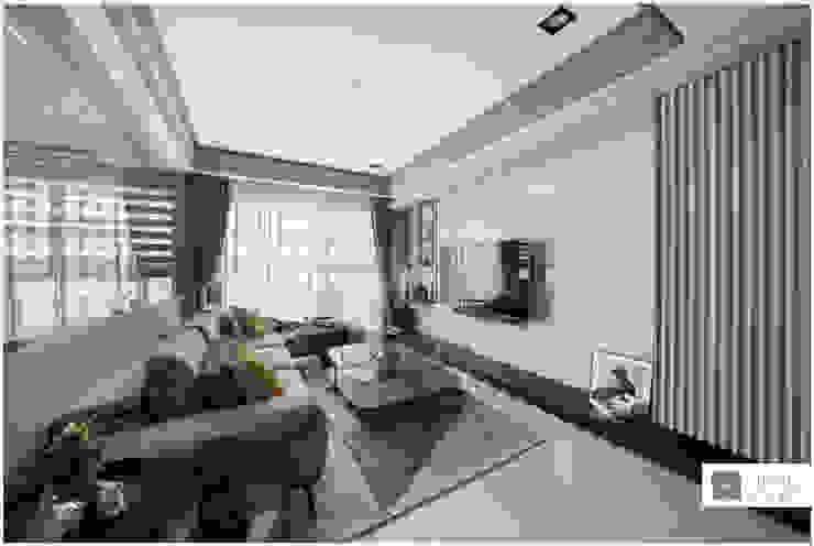 玻璃屋書房 / 時尚現代宅 现代客厅設計點子、靈感 & 圖片 根據 築沃空間設計室內裝修工程有限公司 現代風