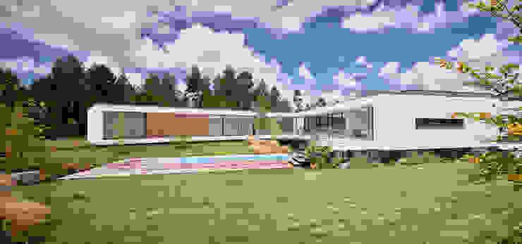 MC House Atelier d'Arquitetura Lopes da Costa Jardines de estilo moderno