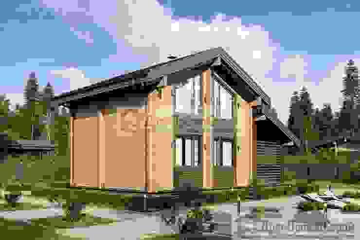 ПСК Древпроектстрой Classic style houses Wood Wood effect