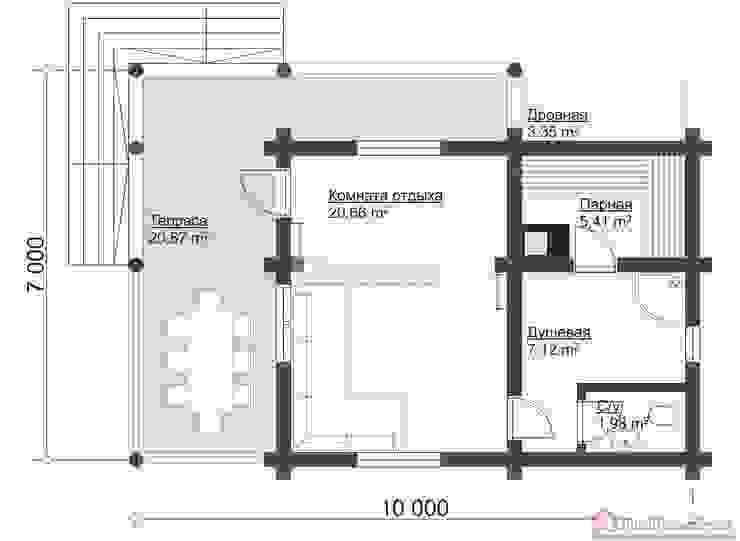 ПСК Древпроектстрой Casa di legno Legno Effetto legno
