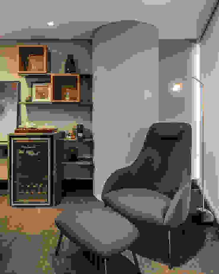 Sala de Reunião 3 | Biblioteca Arquitetura Sônia Beltrão & associados Espaços comerciais modernos Madeira Azul