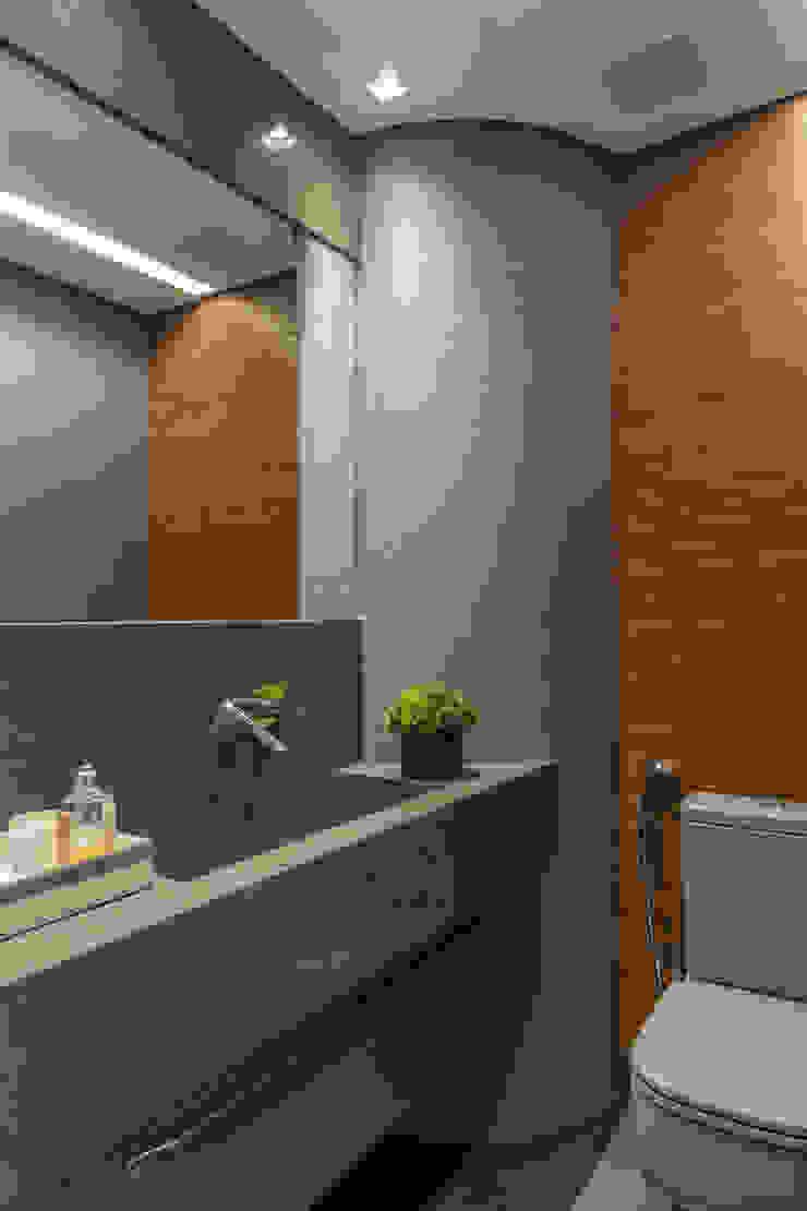 WC Social 1 Arquitetura Sônia Beltrão & associados Espaços comerciais minimalistas Pedra Cinza
