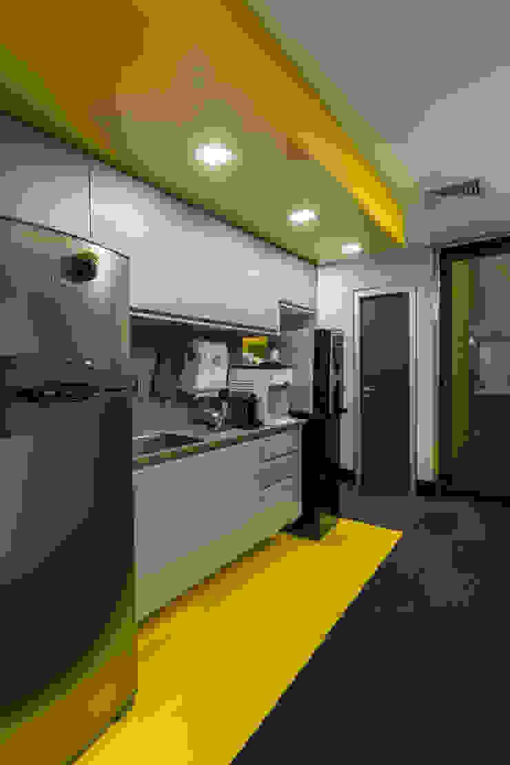 Copa | Caixa Amarela Arquitetura Sônia Beltrão & associados Espaços comerciais minimalistas Pedra Amarelo