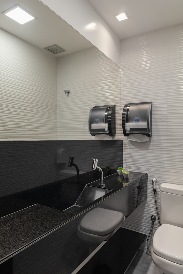 Arquitetura Sônia Beltrão & associados Commercial Spaces Granite Black