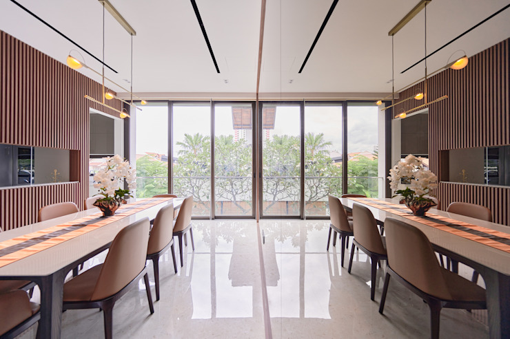 Mr Shopper Studio | Landed Property | Cayman Residence | Dining Room Modern dining room by Mr Shopper Studio Pte Ltd Modern Wood Wood effect