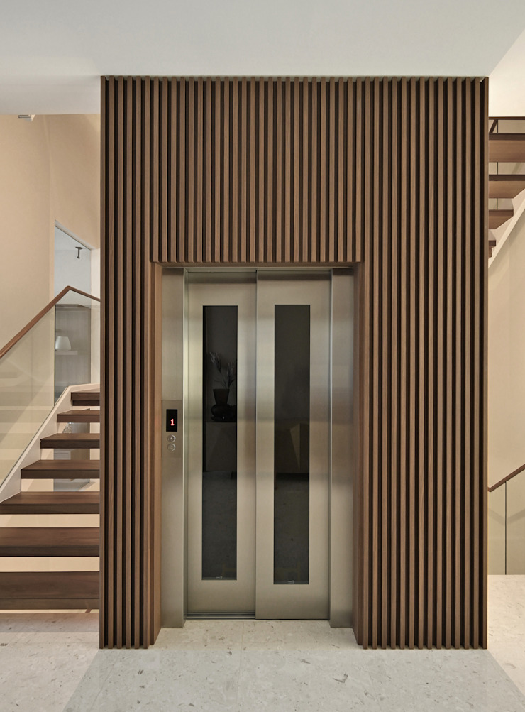 Mr Shopper Studio | Landed Property | Cayman Residence | Lift by Mr Shopper Studio Pte Ltd Modern Wood Wood effect