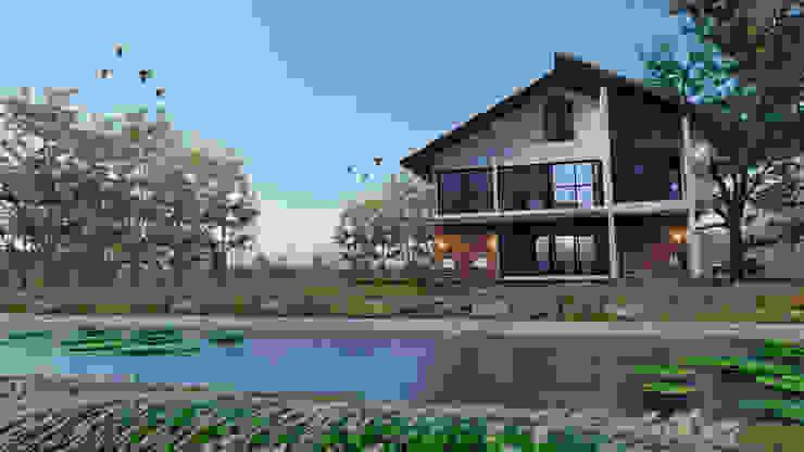 บ้านสวนริมคลอง Pilaster Studio Design บ้านเดี่ยว