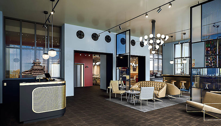 Lobby - Interiordesign - Markus Hilzinger MARKUS HILZINGER Moderne Hotels