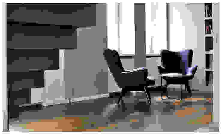 Sessel Ecke zum ruhigen Arbeiten oder Telefonieren Heerwagen Design Consulting Moderne Arbeitszimmer