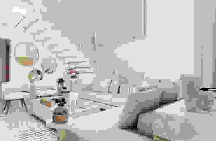 Sala de Estar e Jantar com Mezanino Studio C2 Arquitetura e interiores Salas de estar ecléticas