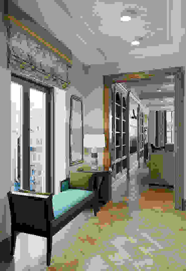 Прихожая в квартире в клубном доме в Depre. Коридор, прихожая и лестница в классическом стиле от MARION STUDIO Классический