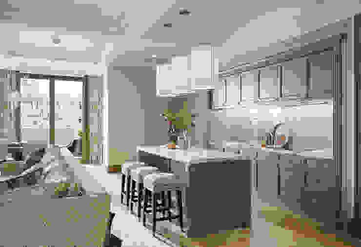 Гостиная-кухня-столовая в квартире в клубном доме в Depre. Кухня в классическом стиле от MARION STUDIO Классический