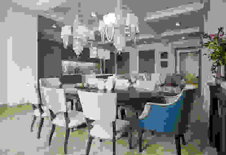 Гостиная-кухня-столовая в квартире в клубном доме в Depre. Столовая комната в классическом стиле от MARION STUDIO Классический