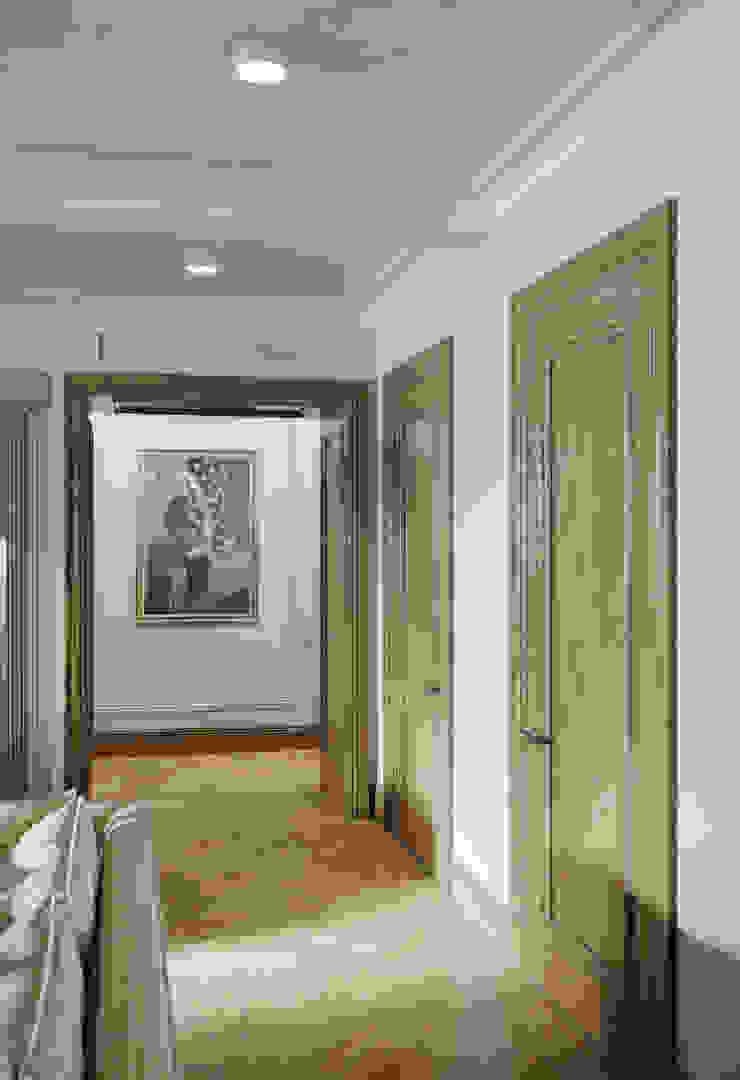 Коридор в квартире в клубном доме в Depre. Коридор, прихожая и лестница в классическом стиле от MARION STUDIO Классический
