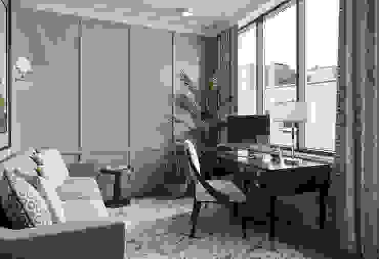 Кабинет в квартире в клубном доме в Depre. Рабочий кабинет в классическом стиле от MARION STUDIO Классический