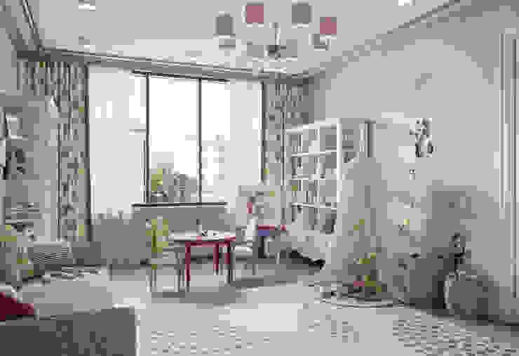 Детская младшей дочери в квартире в клубном доме в Depre. от MARION STUDIO Классический