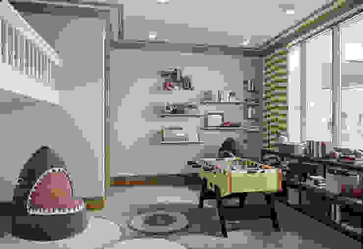 Детская младшего сына в квартире в клубном доме в Depre. от MARION STUDIO Классический