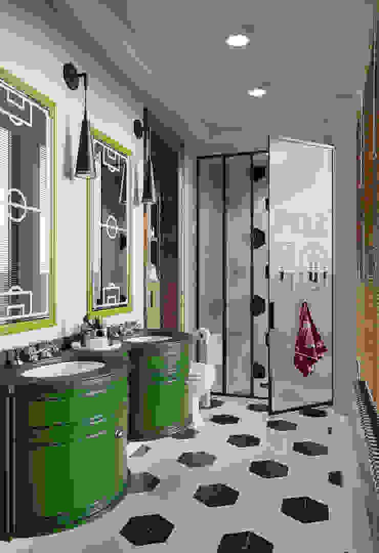 Санузел мальчиков в квартире в клубном доме в Depre. Ванная в классическом стиле от MARION STUDIO Классический