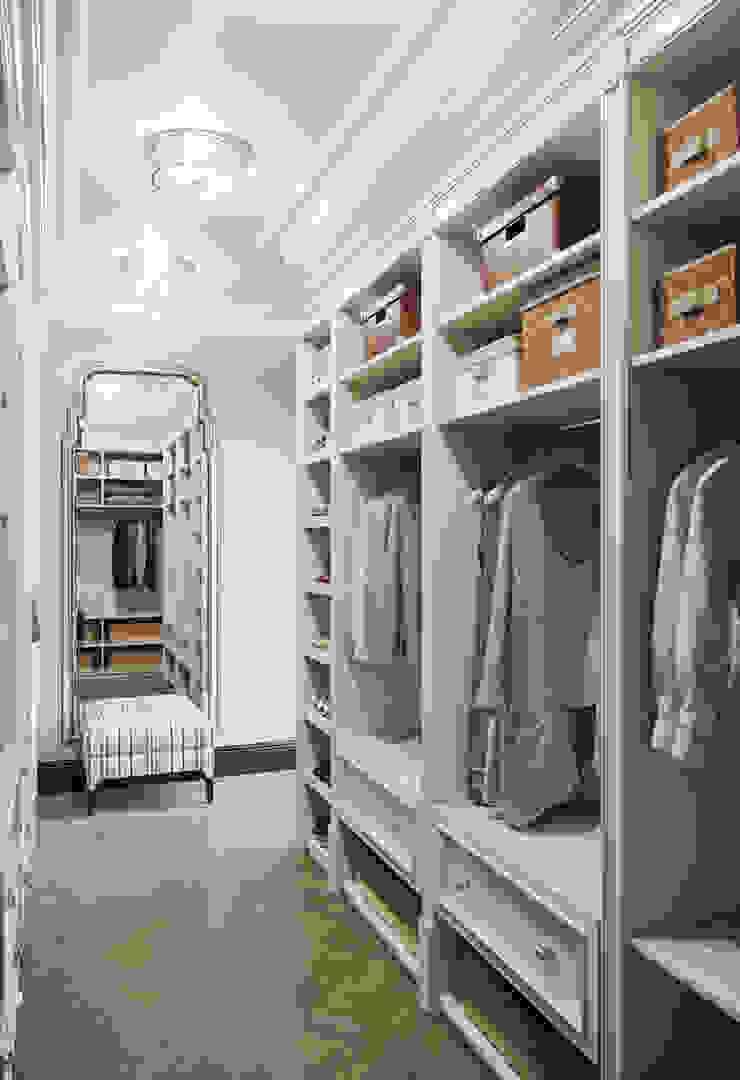 Хозяйская гардеробная в квартире в клубном доме в Depre. Гардеробная в классическом стиле от MARION STUDIO Классический