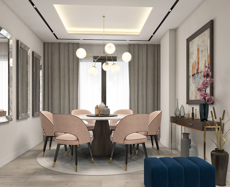 Tuzla Residence Dubleks Interno Home Modern Yemek Odası