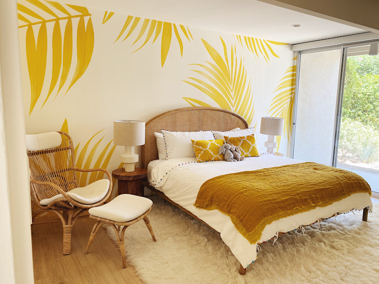 The Sunshine Bedroom 01 Tropical style bedroom by Bells + Whistles, INC Tropical