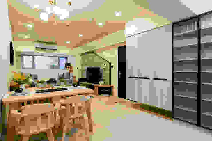 客廳&餐區 根據 法柏室內裝修設計 北歐風