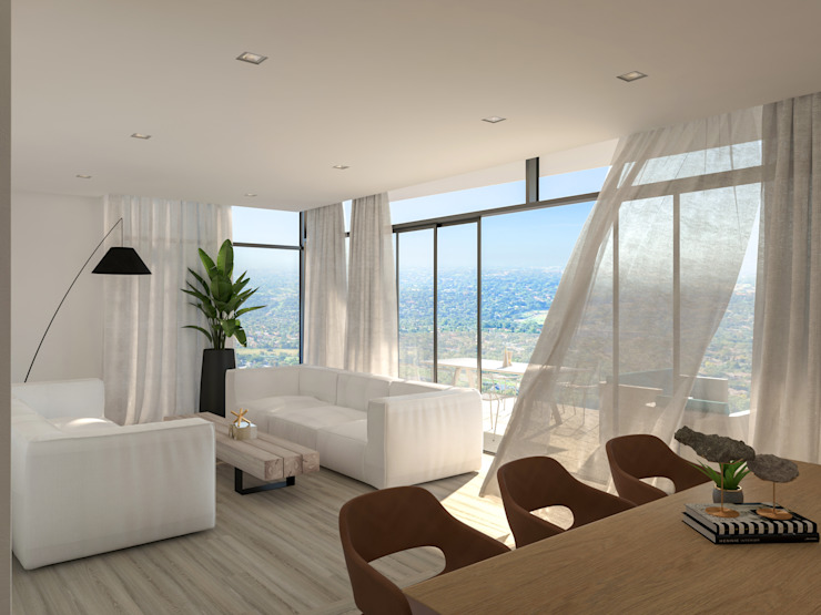 Minimalist Open Plan Living Space Deborah Garth Interior Design International (Pty)Ltd Modern living room