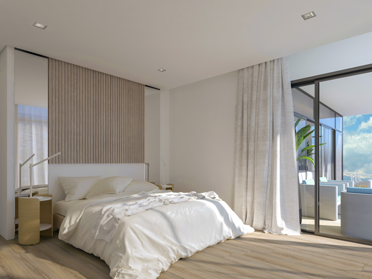 Tranquil Sleep Space Deborah Garth Interior Design International (Pty)Ltd Modern style bedroom