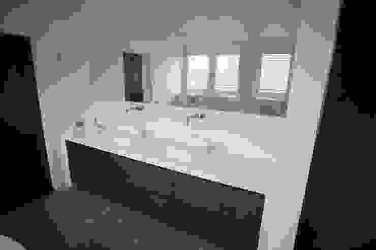 Dubbele wastafel De Eerste Kamer Moderne badkamers Tegels Hout