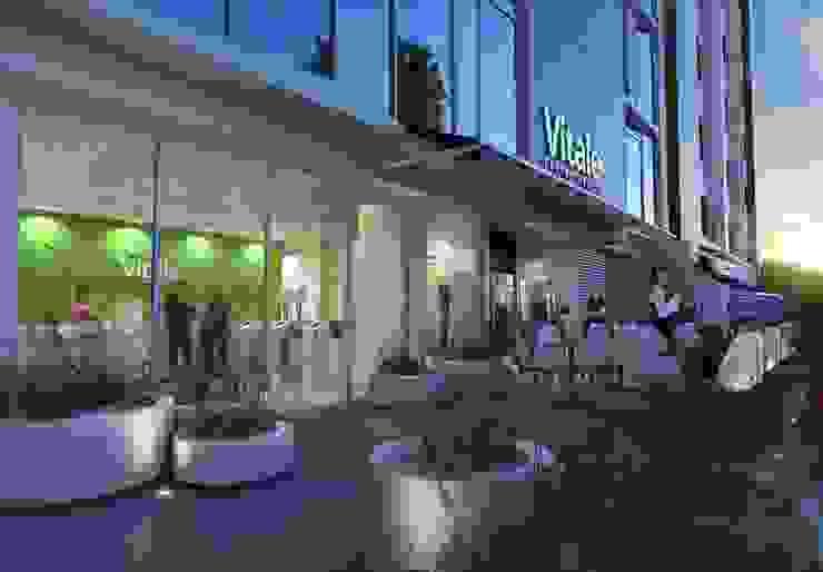 Terraza Café Piso 1 de BSArquitectos Moderno