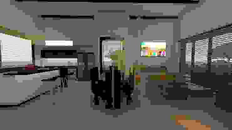 sala- comedor- cocina. Comedores de estilo minimalista de TITANIUM ARQUITECTOS S.A.S. Minimalista