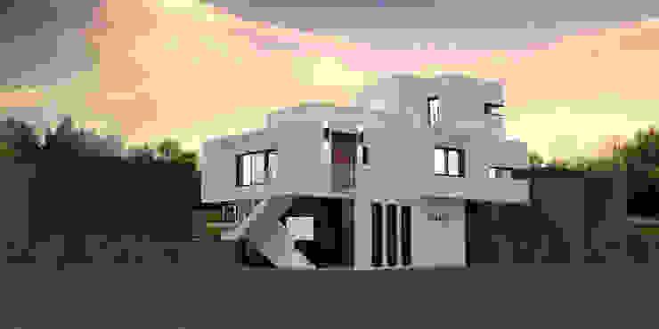 서귀포시 강정마을 전원주택 배면 56평 파사드 디자인 by 디자인 이업 모던 철근 콘크리트