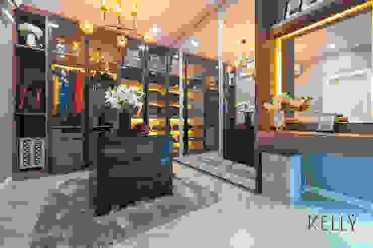 โครงการเฌอคูณ สาทร – ราชพฤกษ์ บ้านทาวน์โฮม 3 ชั้น บริษัท โกลบอล สปริง จำกัด ห้องแต่งตัวตู้เสื้อผ้าและลิ้นชัก Black