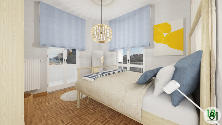 Arch. Sara Pizzo - Studio 1881 Small bedroom Blue