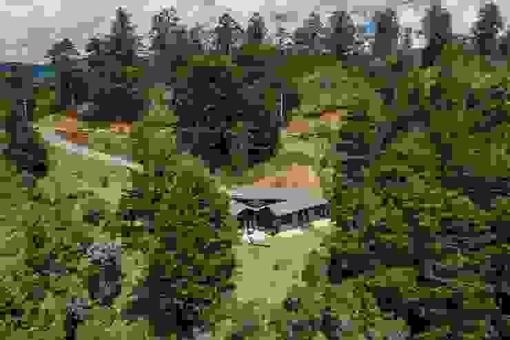 La casa en la montaña de Estudio Transversal SAS Rural Ladrillos