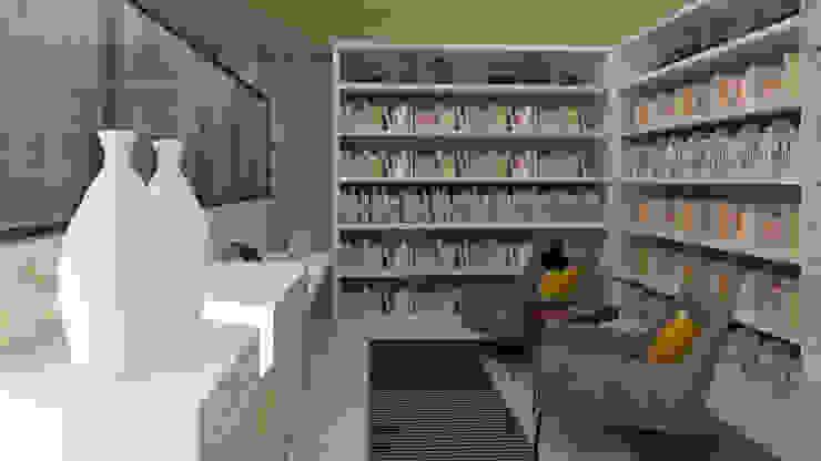 Estudio, Casa 10 x 10 CONCEPTO JORU Estudios y despachosescandinavos Beige