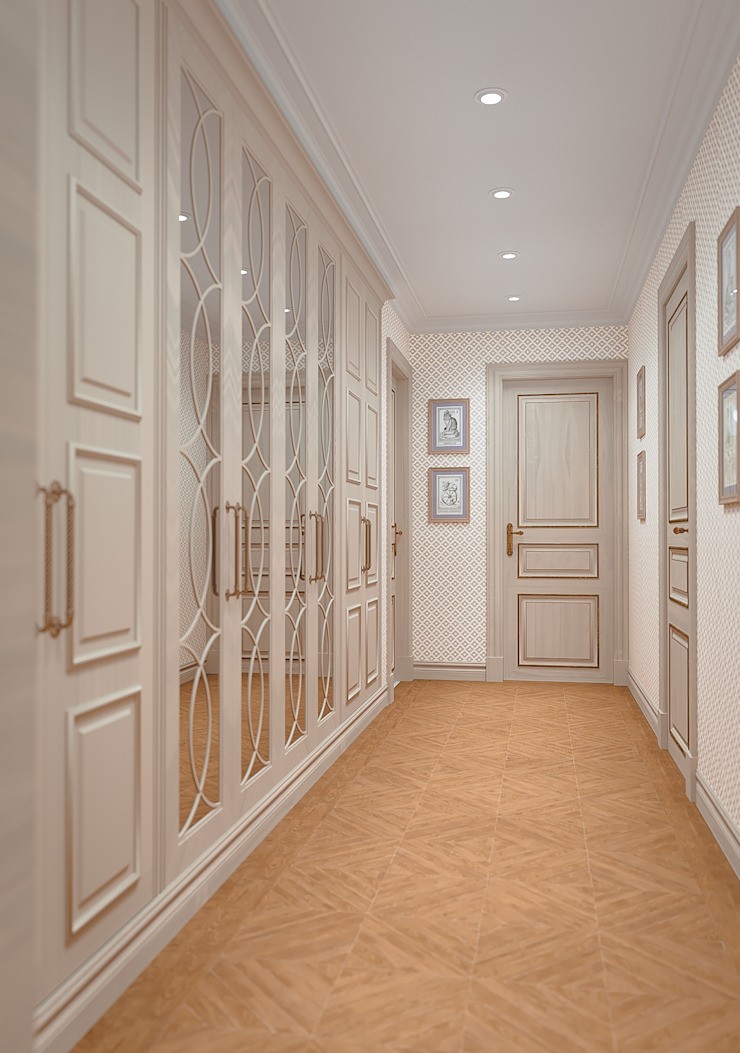 MARION STUDIO Classic style corridor, hallway and stairs