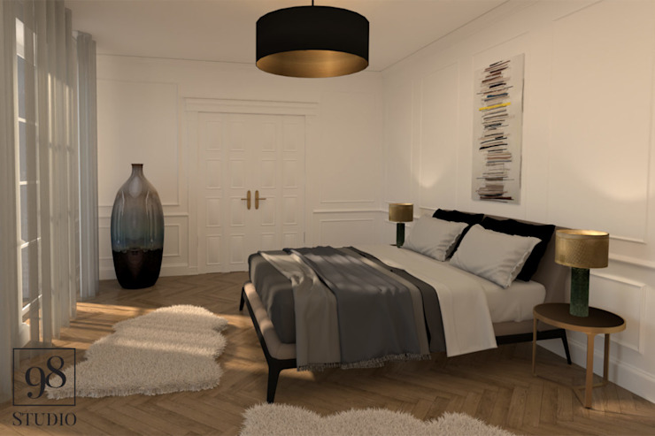 Eclectic style bedroom by STUDIO 98 Marta Bredow Eclectic