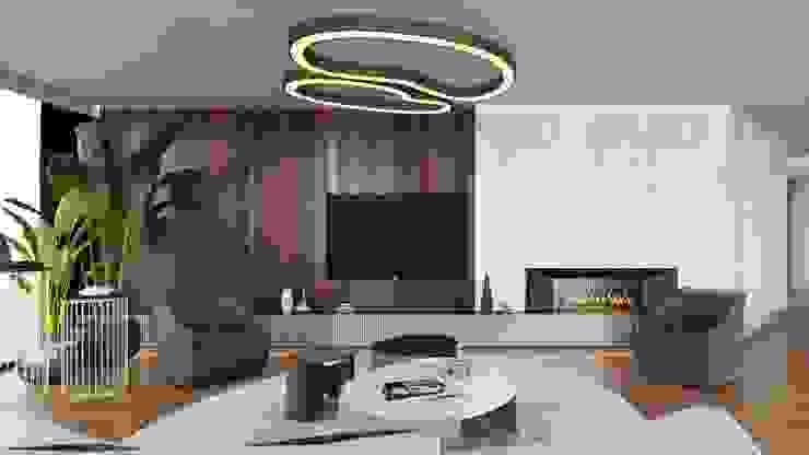 M.K. Evi Salon Entrada Mimarlık Modern Oturma Odası Ahşap Ahşap rengi