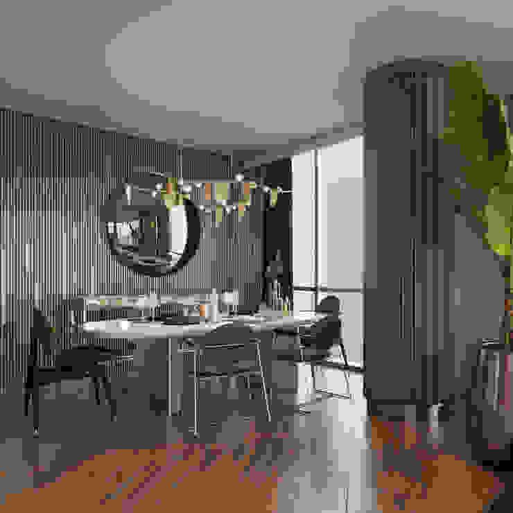 M.K. Evi Yemek Alanı Modern Yemek Odası Entrada Mimarlık Modern Ahşap Ahşap rengi