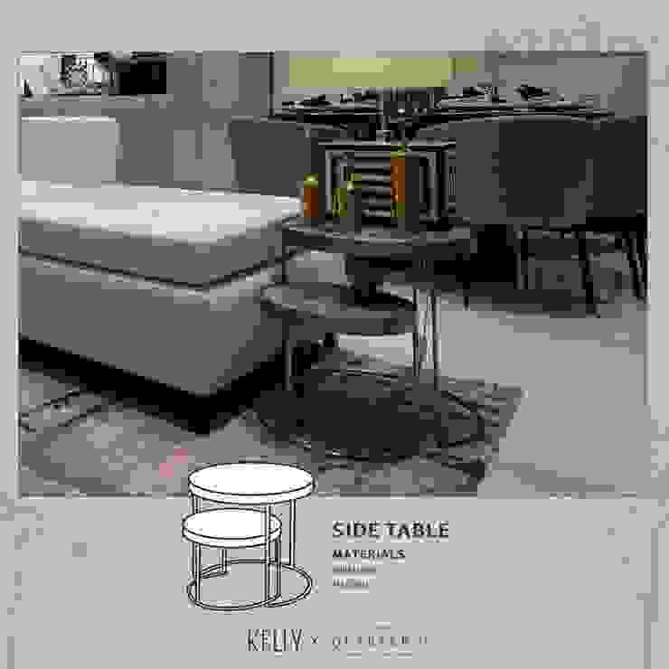 SIDE TABLE: ผสมผสาน  โดย บริษัท โกลบอล สปริง จำกัด, ผสมผสาน โลหะ