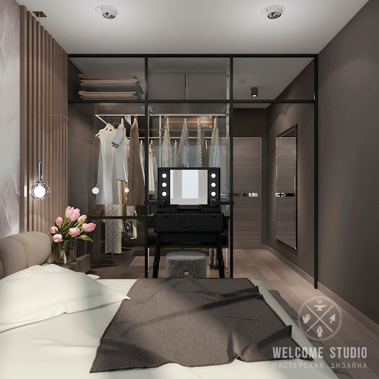 Industrial style bedroom by Мастерская дизайна Welcome Studio Industrial