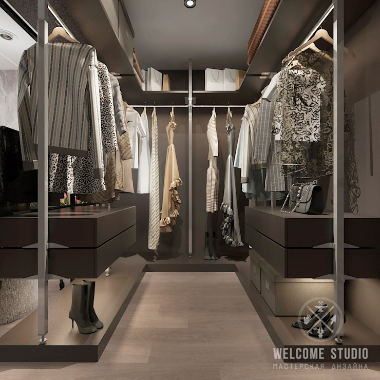 Industrial style dressing room by Мастерская дизайна Welcome Studio Industrial