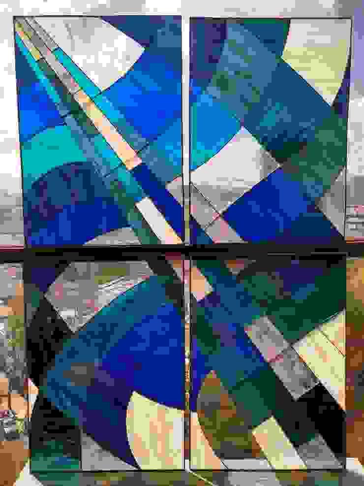 MKVidrio BagnoDecorazioni Vetro Blu