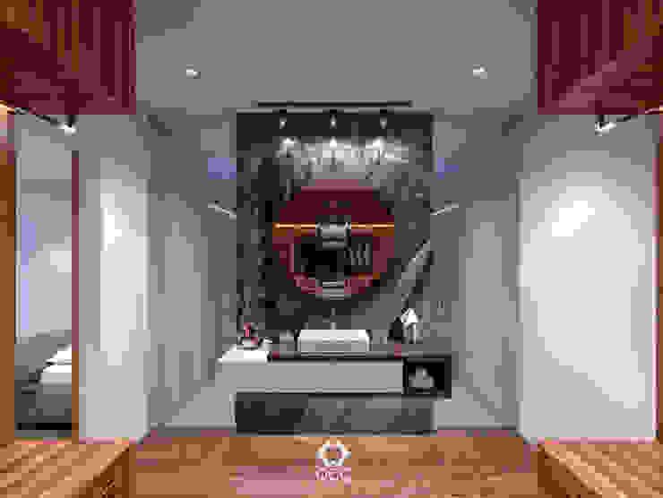 Casa GA: Baño Recámara Principal Baños modernos de Constructora OCC Moderno