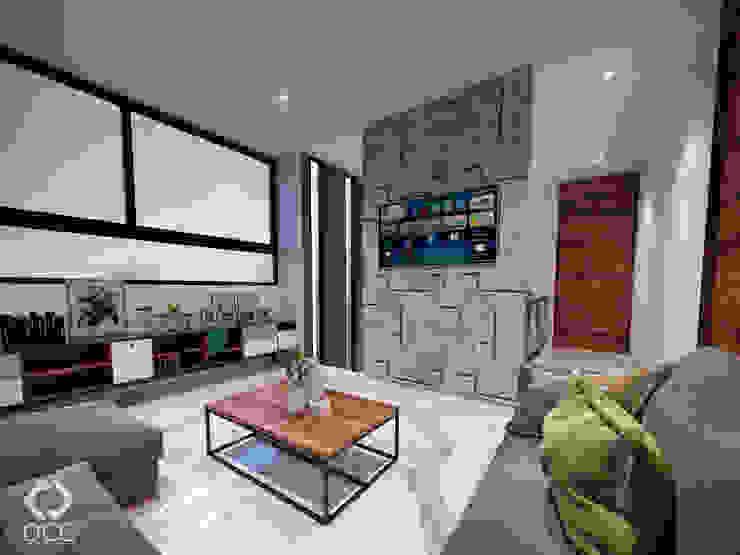 Casa GA: Sala TV Salones modernos de Constructora OCC Moderno