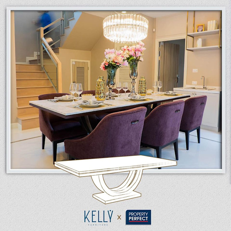 โต๊ะทานข้าว: คลาสสิก  โดย บริษัท โกลบอล สปริง จำกัด, คลาสสิค ไม้ Wood effect