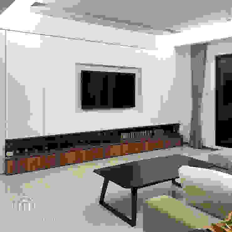系統電視櫃: 極簡主義  by 醉心空間設計有限公司, 簡約風