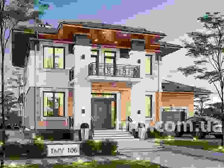 Проект стильного двухэтажного особняка TMV 106 от TMV Architecture company